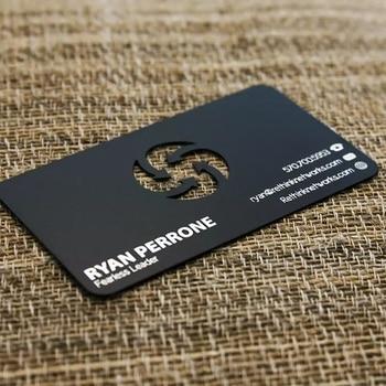 Custom Cheap Metal Glossy Black Business Card