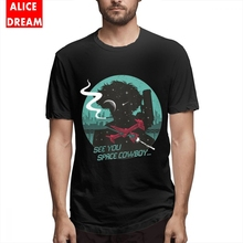 Space Cowboy Bebop T Shirt For Male Hip Hop Tee Round Collar Free Shipping Homme T-shirt