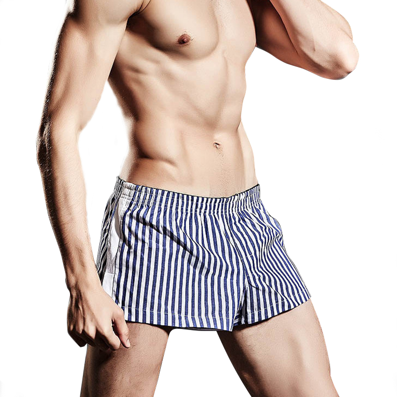 Mens Underwear Cotton Boxer Shorts Leisure Underpants Man Comfy Side Open Trunks Drawstring Homewear Cueca Male Pocket Panties Back To Search Resultsunderwear & Sleepwears