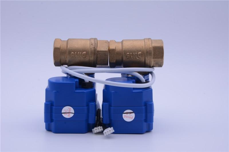 1 2 DN15 3 4 DN20 1 DN25 2pcs BSP NPT Brass Motorized Ball Valves for