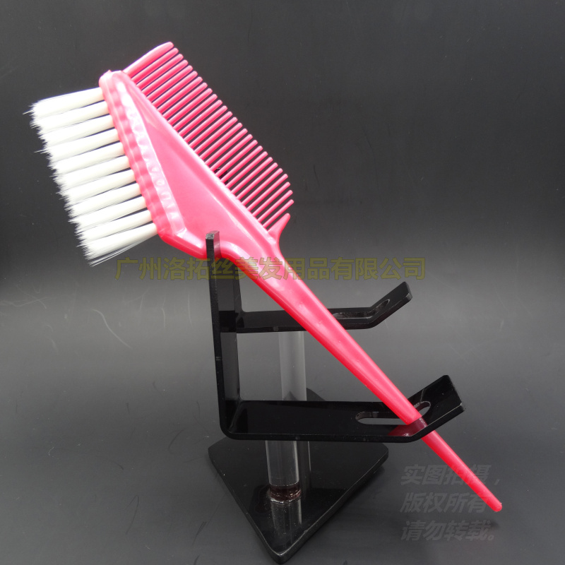 Wholesale Hair Color Mixing Brush 6 Pcs/lot,Environmental Material ABS Hair Barber Tinting Comb Salon Hair Coloring Brush