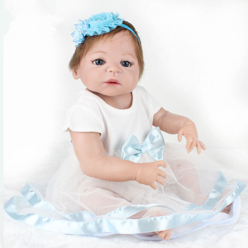 reborn babies realistic silicone reborn dolls 16 inch 40 cm new arrival lifelike baby reborn toys for kid s birthday gift Free Shipping New Arrival Reborn Baby Dolls 22 Inch Realistic Soft Silicone Reborn Babies Alive Boneca Toys Kids GIft Juguetes