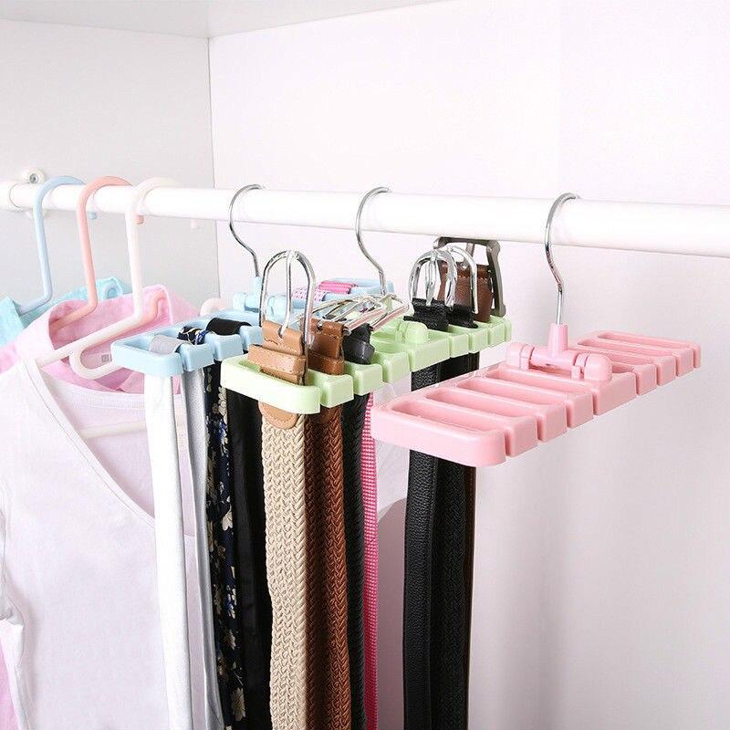 Closet Storage Rack Tie Belt Scarf Organizer Space Saver ...