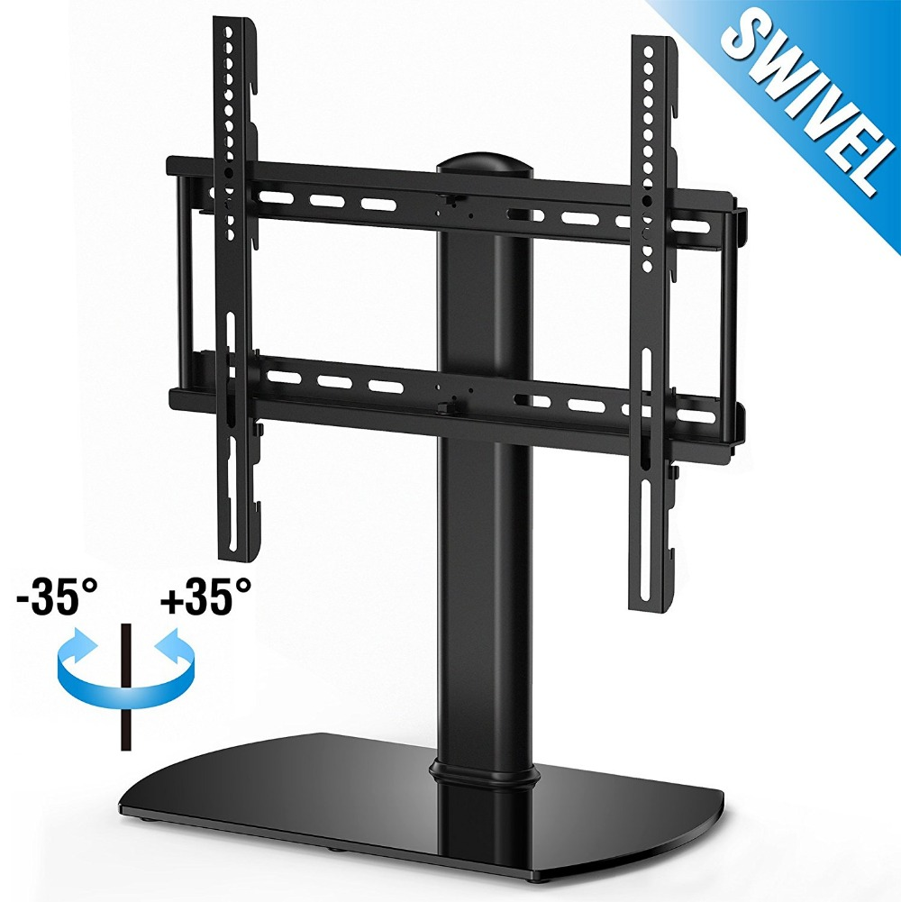 Fitueyes Universal TV Stand Base Swivel Tabletop TV Stand with mount for 32 inch to 50 inch Flat screen Tvs/xbox One/tv Componen fitueyes universal swivel tv stand base with mount height adjustable for 26 to 55 tv tt106001mb