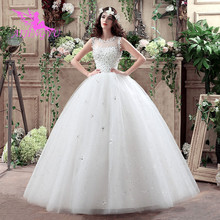 AIJINGYU 2021 white new hot selling cheap ball gown lace up back formal bride dresses wedding dress WK132