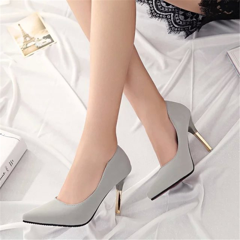 SLYXSH Women Pumps 2019 New Arrival Super Women Shoes High Heel Pointed Hollow Shallow Mouth Wedding Woman
