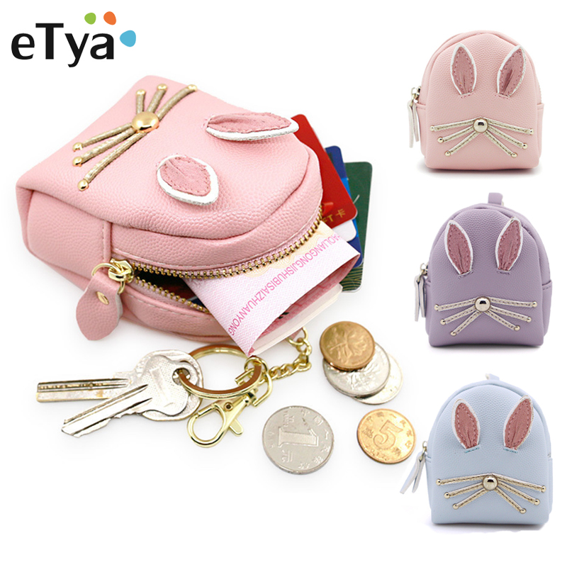 High quality Pu Leather Zippers coin Holder Women Girl Cartoon Cute Small Coin Purse Money Change Coin Wallet Bag with Key Chain high quality women pu leather small mini wallet credit card id holder with key ring ladies change coin purse clutch bags handbag