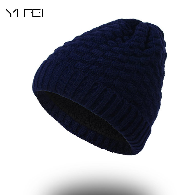 Brand Hat Men Winter Beanies Women Knitted Wool Bonnet Plus Velvet Soft Beanie Autumn Man Cap Gorros Caps For Man Turban Hats 2017 men women hats winter beanie velvet beanies soft snapback caps bonnets en laine homme gorros de lana mujer soft solid color