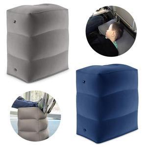 Image 5 - Almohada inflable de 3 capas para reposapiés de viaje, reposapiés para coche, cojín ecológico para coche y avión