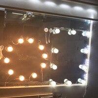허영 LED 전구 키트 USB 충전 포트 화장품 조명이 메이크업 거울 전구 조정 가능한 밝기 홈 장식 조명