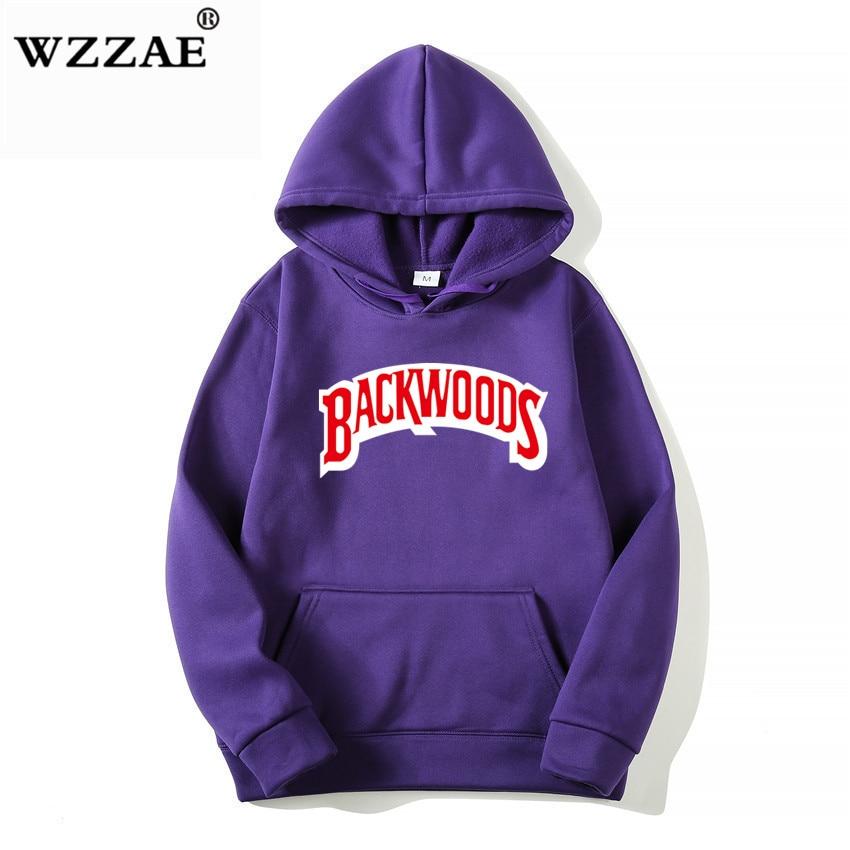 The screw thread cuff Hoodies Streetwear Backwoods Hoodie Sweatshirt Men Fashion autumn winter Hip Hop hoodie pullover Hoody 5