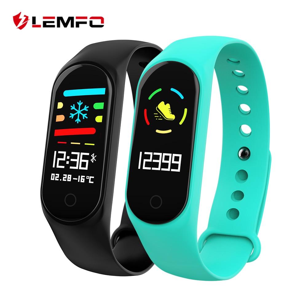 LEMFO M3 Fitness Armband Blutdruck & Herz Rate Monitor Bunte Touchscreen IP67 Wasserdichte Smart Armband für Männer Frauen