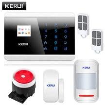 KERUI 8218G Ruso de Valores ruso Voz IOS APP Sistema de Alarma de PSTN GSM de Doble Red Touch Dual APP Controlado Casa seguridad