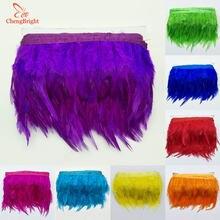 Украшение CHENGVRIGHT, 1 м, 10-15 см, куриные петушиные перья, обрезанная ткань, хвост петуха, украшение для одежды, свадьбы