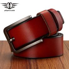 Plyesxale Pin Buckle Belts Men 2018 Genuine Leather Luxury Strap Male Belts For Men Casual Belts