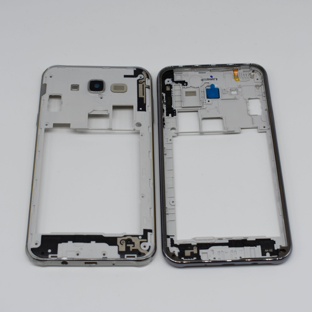 For Samsung Galaxy J7 2015 J700 J700F Middle Frame Plate Bezel Housing Cover silver black gold color