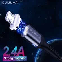 KUULAA Magnetic Cable Micro USB Fast Charging Adapter For Samsung XiaoMi Redmi 6A Huawei Charger Magnet MicroUSB Charge Cord