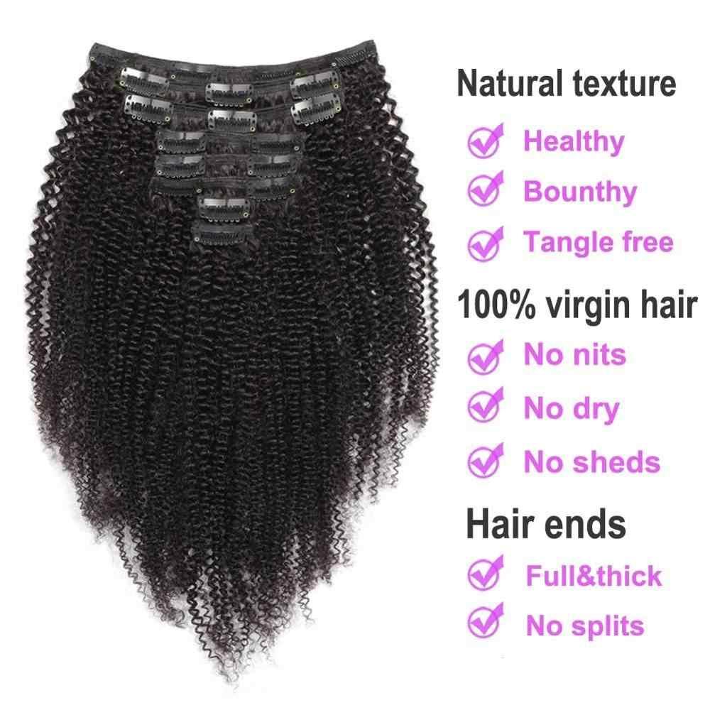 ShowCoco Clip en extensiones de cabello humano rizado Afro Clip ins Triple tramas mongol cabello humano para las mujeres negras 3b 3c 4c