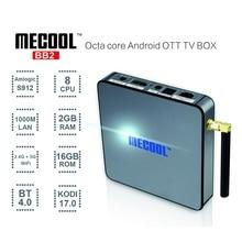 MECOOL S912 BB2 Android TV Box Amlogic 64 Bits Octa Core 4 K x 2 K 2G/16G Android 6.0 TV Box WiFi BT4.0 2.4G/5.8G H.265 4 K jugador