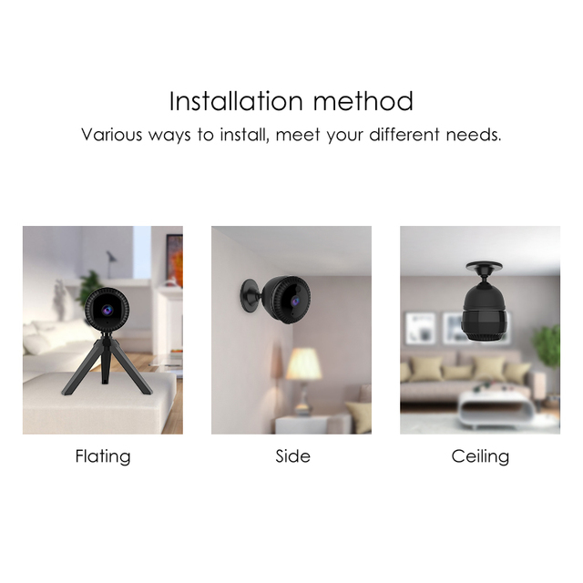 Marlboze 720P Full HD Mini IP Camera Built-in Battery Body Camera Remote playback video Wifi Web cam support APP remote control