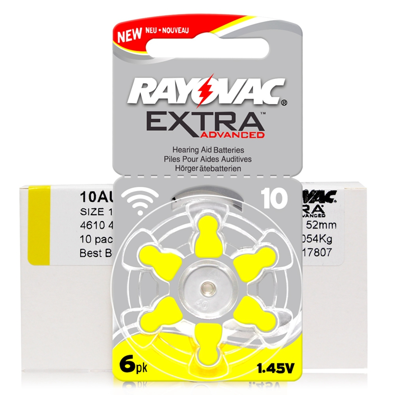 Image 2 - 60 PCS RAYOVAC EXTRA Zinc Air Performance Hearing Aid Batteries A10 10A 10 PR70 Hearing Aid Battery A10 Free Shipping-in Ear Care from Beauty & Health