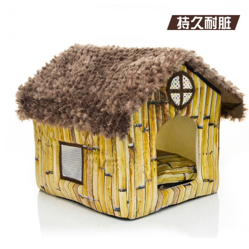 New Soft Dog Pet Bed House Warm Dog Kennel Lovely Pet