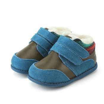 Tipsietoes Winter Children Shoes Leather Martin Kids Snow