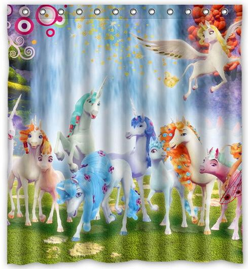 Printing Mia And Me Cartoon Anti Mildew Water Shower Curtain Hot Selling