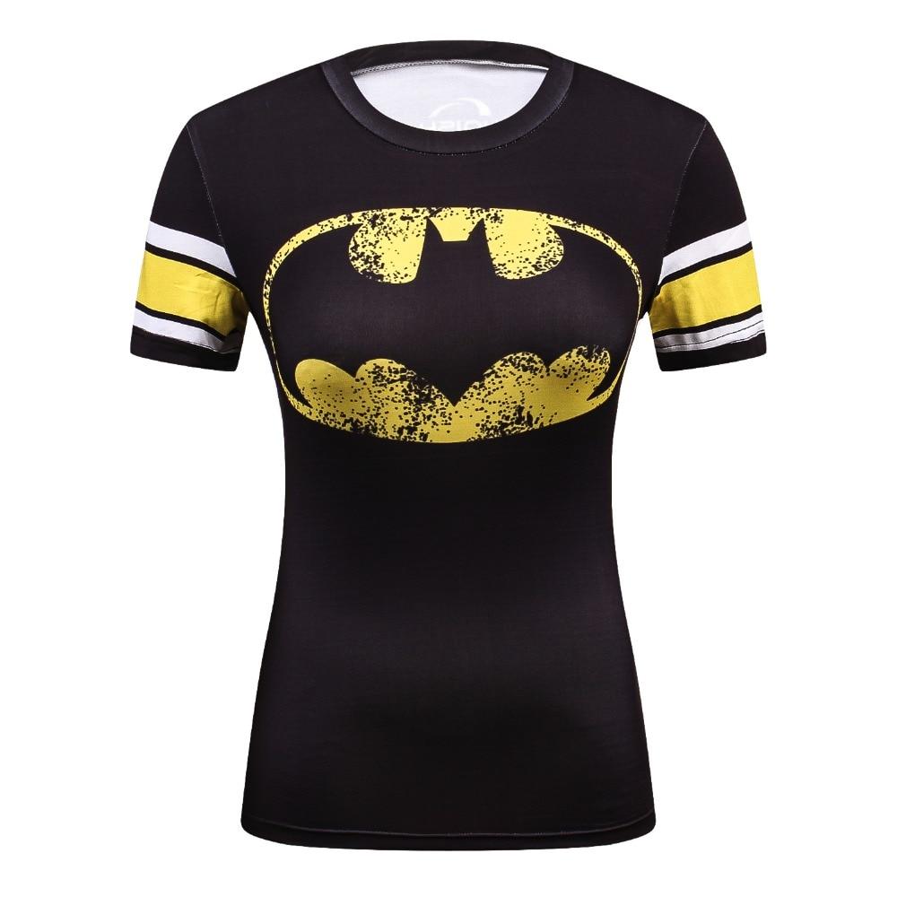 Summer Female Compression Superhero Batman/Superman/Wonder Women Tshirt Stranger Things T-Shirt Women 3D Marvel Funny T Shirt