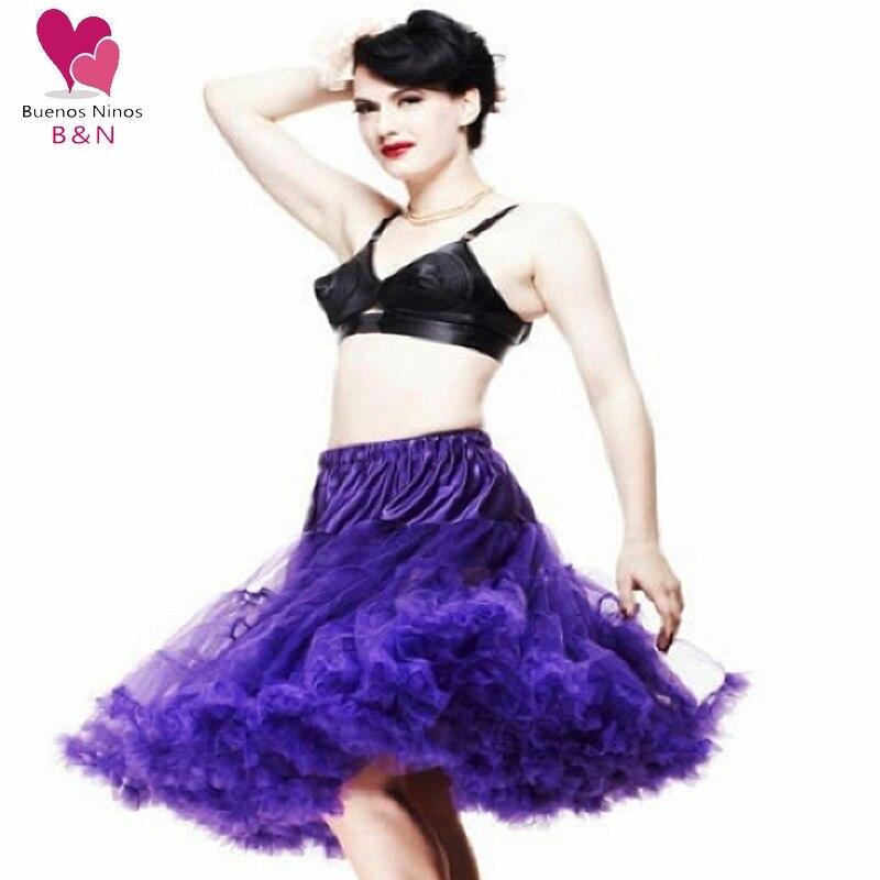 Custom Pettiskirt Women Sexy skirts Chiffon Petticoat Underskirt Tulle Tutu 20 Colors 65cm One Layer No Lining Soft Fluffy