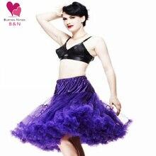 Custom Pettiskirt Women Sexy skirts Chiffon Petticoat Underskirt Tulle Tutu 20 Colors 65cm One Layer No