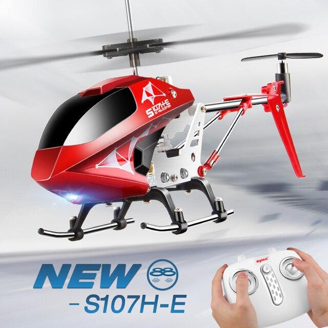 Syma s107h rc helicóptero controle remoto 3.5ch criança hobbies mini rc brinquedo voador com giroscópio para o jogo interno crianças uma chave voar avião