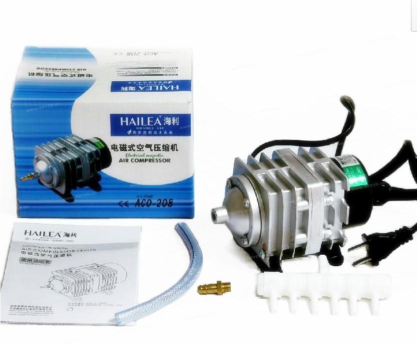 ФОТО NEW 45L/min 25W Hailea ACO-208 Electromagnetic Air Compressor,aquarium air pump,aquarium oxygen air pump AC 220-240V Free ship