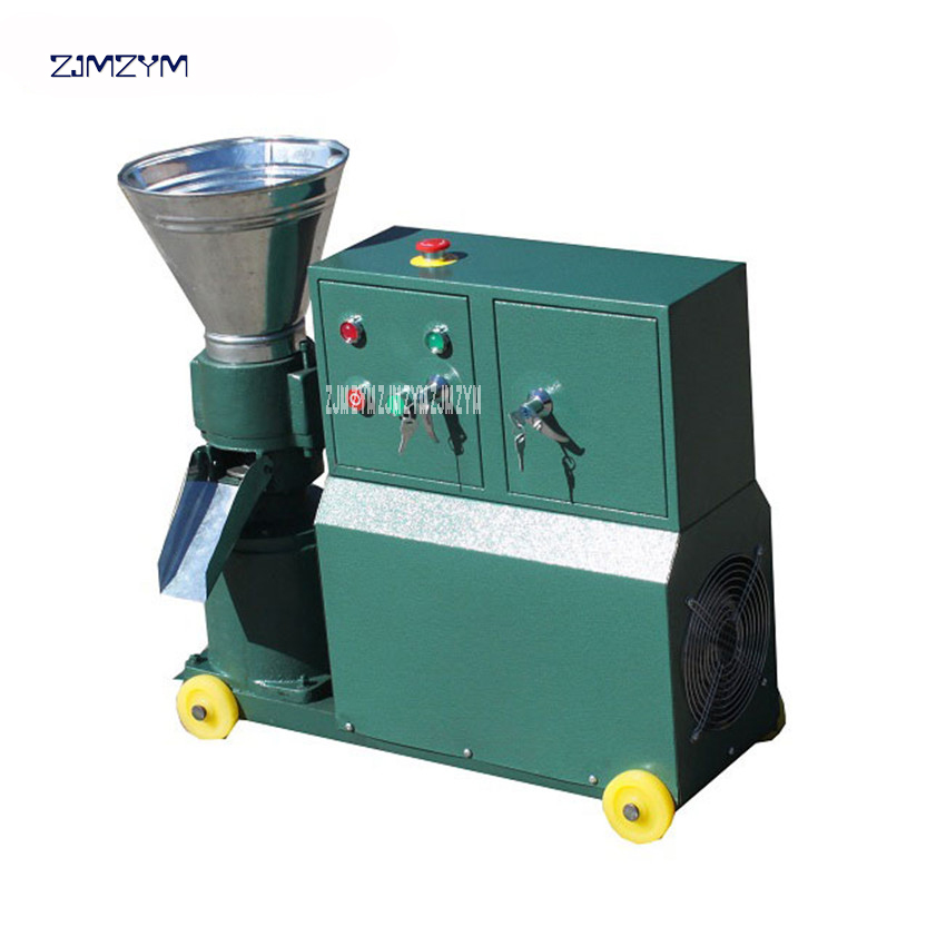 WKL120C Pellet Machine 60-100kg/h Wood Feed Pellet Mill 2.2KW 220V/3KW 380V Animal Feed Granulator High Efficiency 200~300RPM