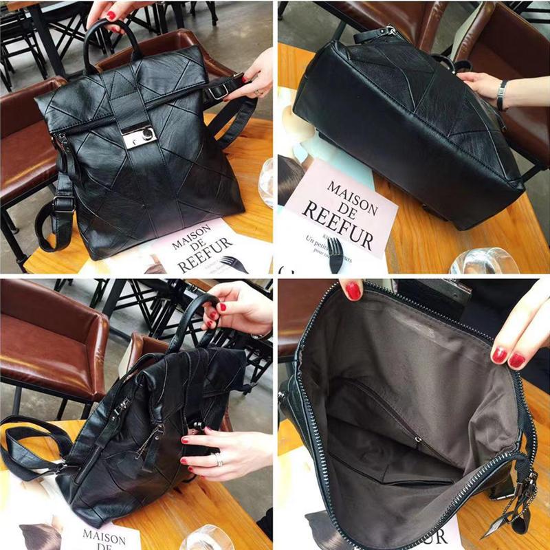 Fashion Brand Women Backpack High Quality Youth Leather Backpacks for Teenage Girls Female School Shoulder Bag Bagpack mochila in Backpacks from Luggage Bags