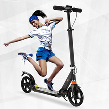 City fashion two wheel scooter adult folding design protable Scooter 3 adjustable gears black white bearing 120KG