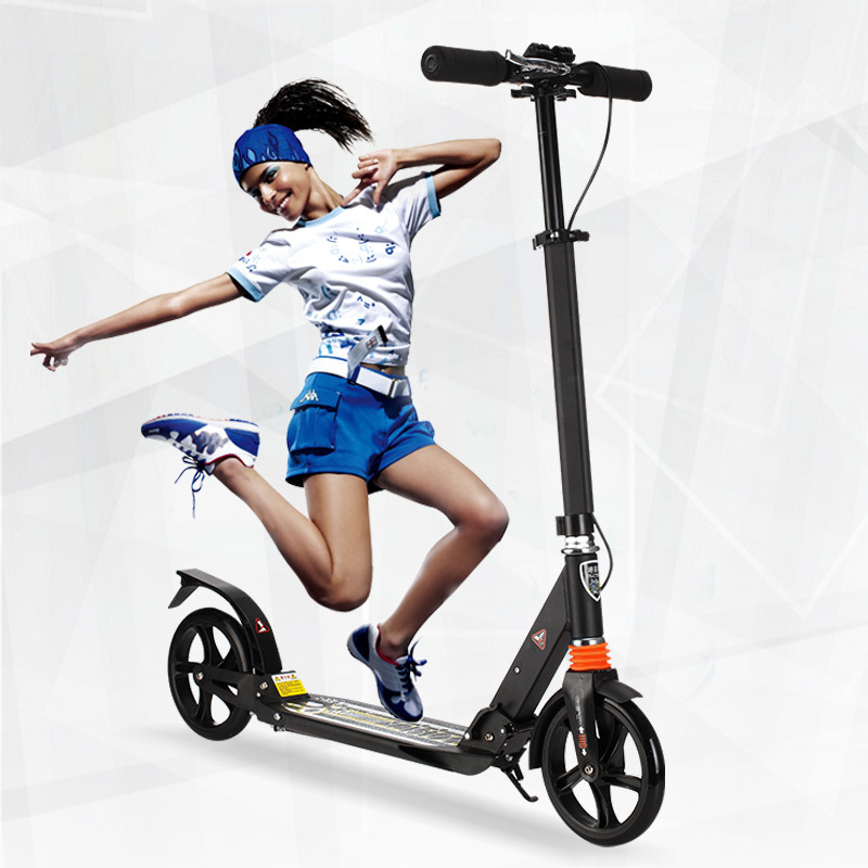 City fashion  two wheel scooter adult  folding  design protable   Scooter 3 adjustable gears black white bearing 120KG 24v 300w 2 10 35km luggage folding carbon fiber electric scooter adult kid school working vehicles travel 2 wheel lithium ion