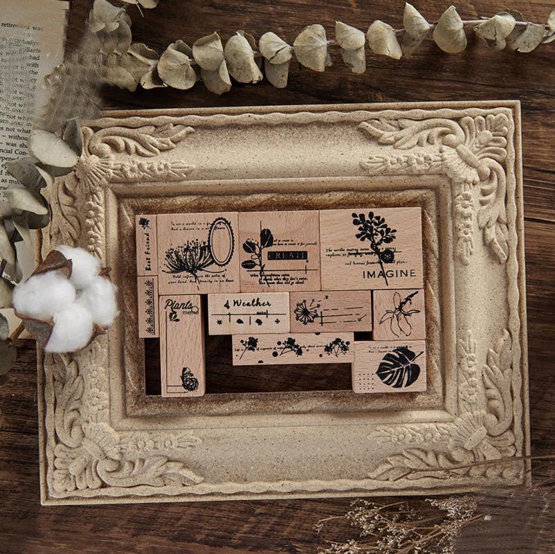 1 pacote Kawaii Japonês Clássico Log Madeira e Vedação de Borracha Carimbo de Borracha Selo De Madeira Decorativa Dairy Livro Planejador Escolar