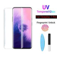 UV Glue Tempered Glass for Oneplus 7pro Screen Protector Nano   Liquid Full Glue Screen film Cover for 1+7pro one plus 7 pro