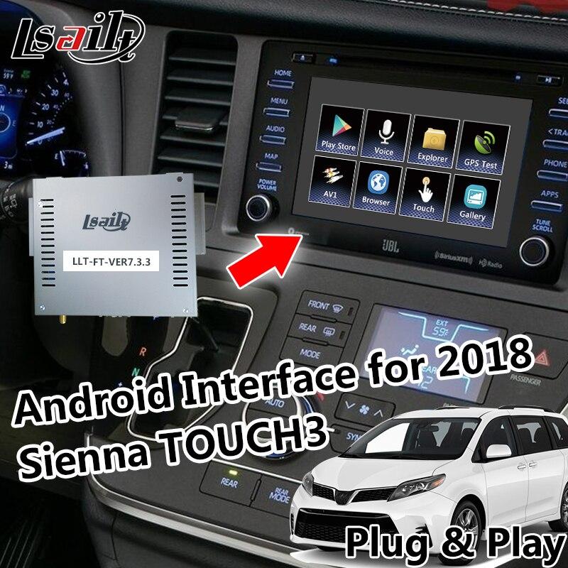 Plug & Play Android GPS Box Navigation pour 2018 Sienna Tactile 3 Vidéo Interface avec le réseau, waze, yandex, Mirrolink etc.