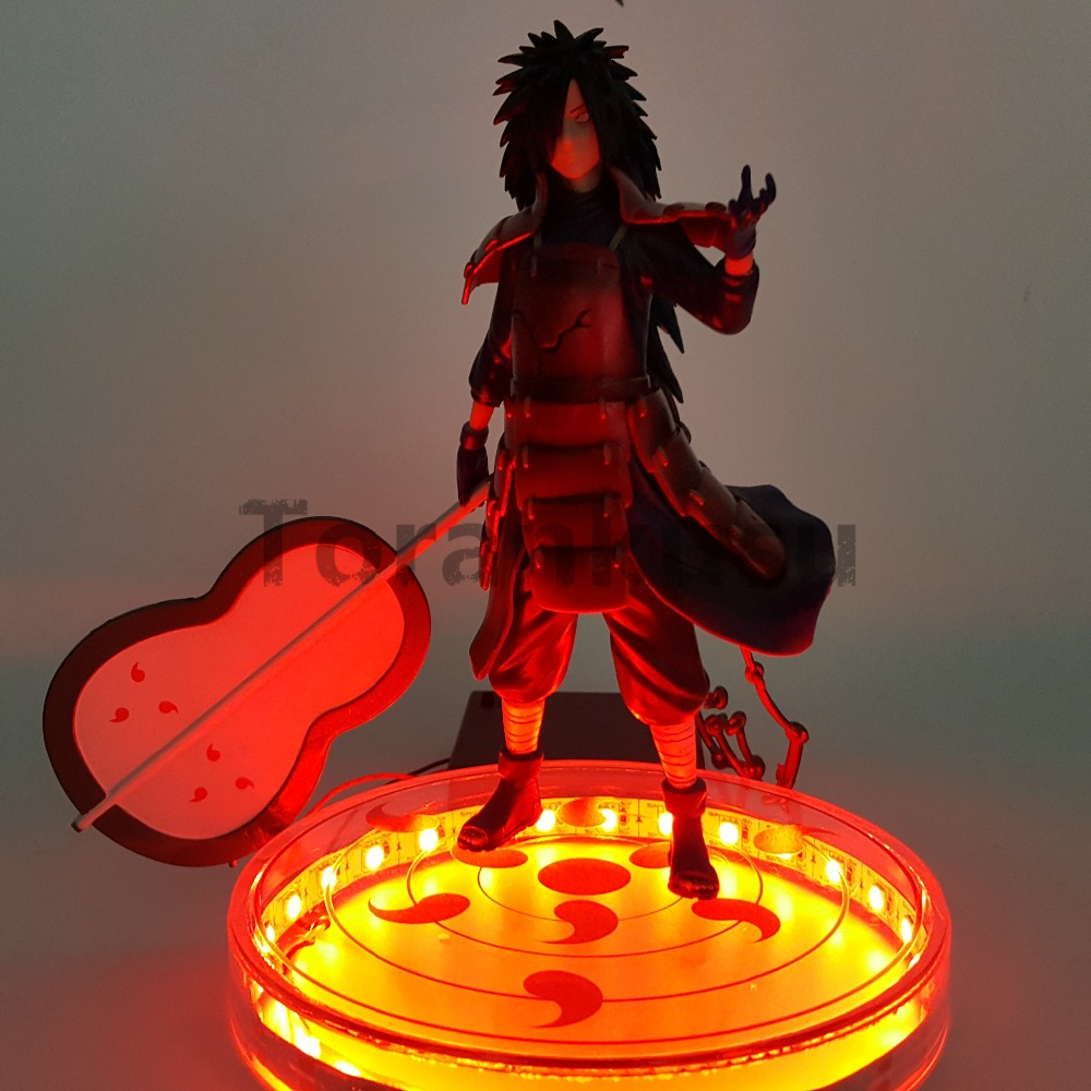 Naruto Action Figure Uchiha Madara Led Rinnegan Base 200mm Naruto Shippuden Uchiwa Madara Figurine Collectible Model Toys bulova часы bulova 96w203 коллекция diamonds page 9