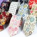 2016 дешевые человек моды тонкий галстук мужской галстук хлопок цветочные kravat высокое качество галстуки свадьба шеи износ