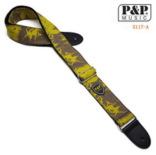 P&P S117  cotton guitar strapHot Sale Black Guitar Straps Acoustic  Ele Leather Bass Belt Classical Guitar Accessor