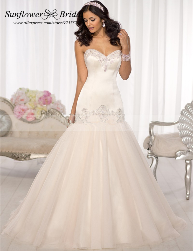 popular drop waist wedding gown buy cheap drop waist