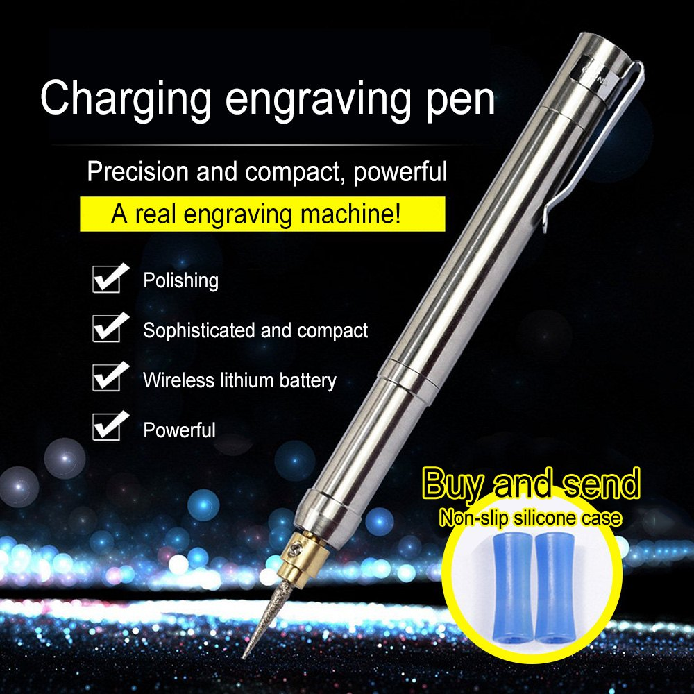 Electric Grinder Mini Engraving Pen Jade Polishing Wood Stone Root Carving With Rechargeable Battery And Charger Stone Grinding