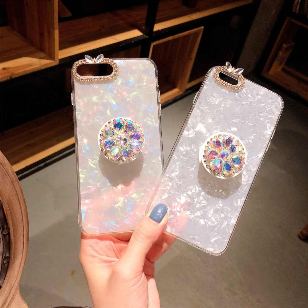 Strass diamant coque téléphone étui pour iphone 11 pro max 6 7 8 plus X XS max XR pour Samsung galaxy s7 s8 s9 s10 plus note 9 10