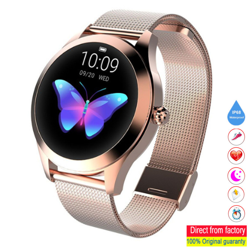 KW10 SmartWatch IP68 Waterproof Watches Heart Rate Monitor Sleep Monitor Woman Smart Watches Suitable for Android