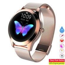 Kw10 smartwatch ip68 à prova dip68 água relógios monitor de freqüência cardíaca monitor sono mulher relógios inteligentes adequados para android e ios telefones