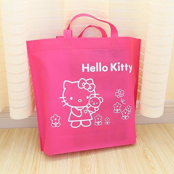 01b7fe4a79 Kawaii Kitty Cat Non woven Eco Shopping Bag.Cartoon Reusable Lunch Bags.Portable  Handbag.Gift Packaging Bag.Organizer-in Storage Bags from Home   Garden on  ...