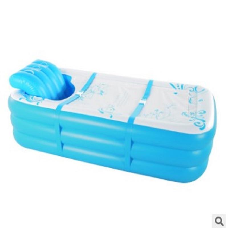 Bañera inflable plegable para adultos baño hogar engrosamiento aislamiento vapor Sauna Spa cuerpo reclinable artefacto de calefacción-in Bañeras hinchables y portátiles from Hogar y Mascotas    2